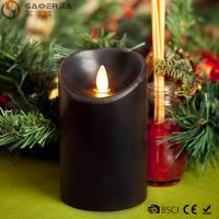 Best Multi - Colored Led Black Pillar Candles with Real Flame for Home Decor wholesale
