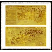 Best Old Australian Gold Banknote 10 Old AUD 99.9% Pure 24K Gold Leaf Foil Plated wholesale