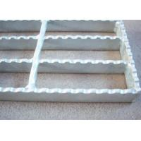 Best 40 X 5 Serrated Bar Grating , Metal Building Hot Dipped Galvanised Steel Grate wholesale