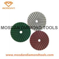 Best 4 Inch Dry Flexible Velcro Resin Bonded Diamond Polishing Pads wholesale