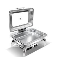 Best Folding Flame Save Place Stainless Steel Rectangular Chafing Dish Buffet Set wholesale
