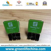 Best Custom Green Plastic Panel Advertismental Black Binder Office Paper Clip w/Company Logo Printing wholesale