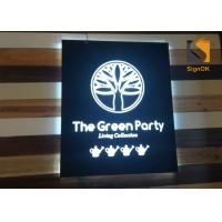 Best Wall Mounted Indoor Store Led Directional Signs / Logo Metal Signbox with Backlit & Frontlit Lighting wholesale