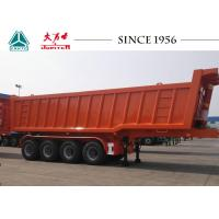 China Square Shape 4 Axle Heavy Duty Tipper Trailer For Transport Mine / Sand / Gravel on sale