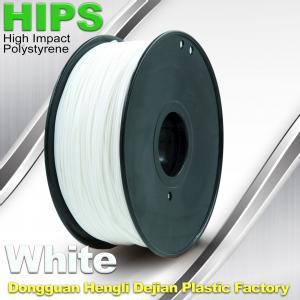 Cheap Custom White HIPS 3D Printer Filament 1.75mm / 3mm , Reusable 3D Printing Material for sale