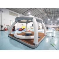 Best Inflatable Water Floating Mat Island With Roof Tent Inflatable Aqua Banas Water Tent For Leisure Time wholesale