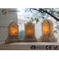 Tombstone Shaped Halloween Led Candles With Color Changing Function
