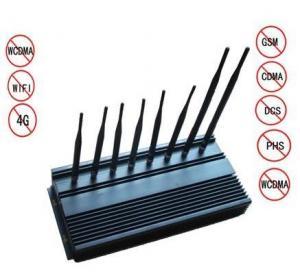 Best 8 Antennas High Power Jammer , WIFI Blocker high power cell phone jammer wholesale