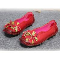 Best Original handmade leather Comfortable Trendy Shoes for ladies , red yellow blue wholesale