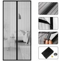 China Wear Resistant Magnetic Screen Door Curtain With Polyester Fabric Screen on sale