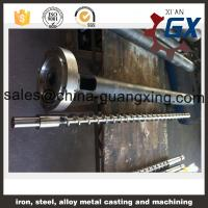 China Bimetallic coating screw cylinder for extruder machine on sale
