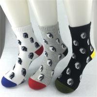 Best Antibacterial Fabrics Organic Cotton Socks , Black / Grey Bamboo Cotton Socks wholesale