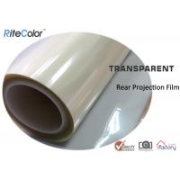 Best Rear Projection Holographic Screen Film/Transparent Rear Projector Film/Indoor Hologram Advertising Film wholesale