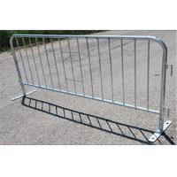 Buy cheap Portable Metal Pedestrian Barriers / Crowd Safety Barriers For Construction from wholesalers