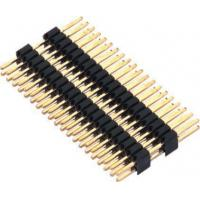 Buy cheap 1.27mm Pin Header Connector Dual Row Double Plastic PA9T Black Pcb Pin Connector from wholesalers