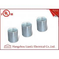 Best Zinc Plated Electrical Rigid Conduit Fittings Coupling Socket , Electro Galvanized Inside Thread wholesale