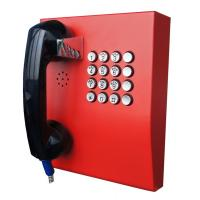 Best Red Analogue Vandal Resistant Telephone For Public Kiosk / Police Stations wholesale