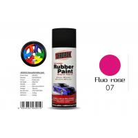 Best 0.3 Pressure Inside Rubber Based Spray Paint Fluo Rose Color With SGS Certificate wholesale