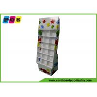 China POP Corrugated Cardboard Store Display With Cells For Puzzle Games Promotion FL147 on sale