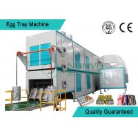 Quality Big Capacity Rotary Pulp Fruit Tray / Egg Tray Forming Machine With Multi Layer Dryer wholesale