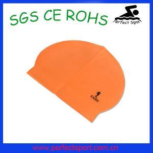 Best Solid Color Man Latex Swimming Cap / Woman Laxte Swinning Cap wholesale