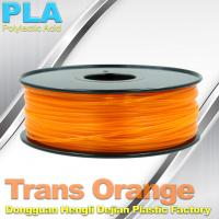 Best 1.75mm /  3.0mm Trans Orange PLA 3D Printer Filament Colors 1KG / Roll wholesale