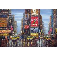 Best Handmade modern abstract oil painting decorative beautiful city wholesale