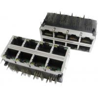 Best 2x6 Multi-port Modular Jack RJ45 with transformer, shielded with EMI fingers, built-in LED wholesale