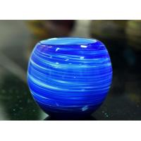 Best Luxury Hand Made Coating Candle Holders Glass For Decoration , Round Ball Shape wholesale