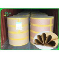 Best 250 / 300 / 300gsm Good Strenght Surface Glossy FSC Kraft Paper Roll For Packing wholesale