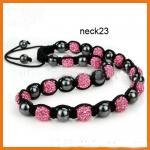 Best Customized Rose Shamballa Bead Necklace Beaded Handmade Jewellery wholesale