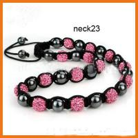 Cheap Customized Rose Shamballa Bead Necklace Beaded Handmade Jewellery for sale