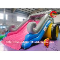 China Kids Commercial Grade Inflatable Water Slide With Pool 0.5mm PVC Material on sale