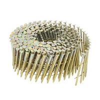 Best Electro Galvanized Wire Coil Siding Nails , Diamond Point Ring Shank Roofing Nails wholesale