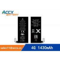 Best ACCX brand new high quality li-polymer internal mobile phone battery for IPhone 4G with high capacity of 1430mAh 3.7V wholesale