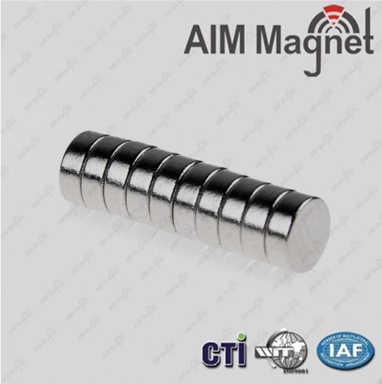 Cheap N 42 disc nickel-coating industrial application neodymium magnet for sale