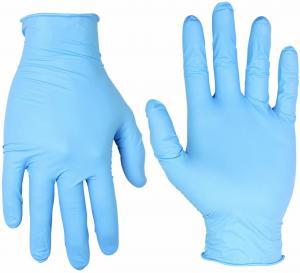 Best Medical Disposable Nitrile Gloves Powder Free , Blue Gloves Disposable Nitrile wholesale