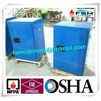Best Blue Chemical Corrosive Storage Cabinets 12 GAL With Door for Acid Liquid wholesale