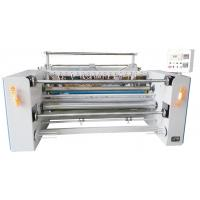 Best Humanistic Vertical Structure Fabric Slitting Machine Saving Space With Hot Cutter wholesale