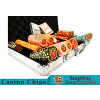 Best 10,000Pcs 11.5g Clay Poker Chip Sets With Aluminum Case For Gambling Games wholesale