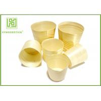Best Smooth Healthy Wooden Sushi Boat Disposable Poplar Wooden Cups For Sauce wholesale