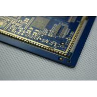 Semi Holes Blue Solder PCB Board Fabrication / Multilayer 20 Layer PCB