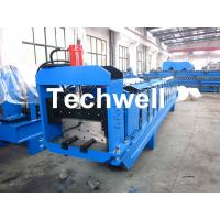 Best Metal Top Ridge Tile Roll Forming Machine With 15 Forming Stations , PLC Control System wholesale