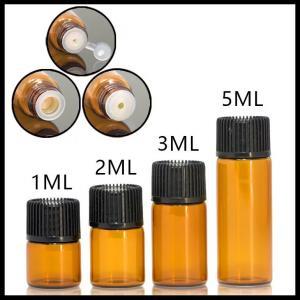 Best Mini Size Essential Oil Glass Bottles Normal Cap For Serum / Perfume 1ml 2ml 3ml 5ml wholesale