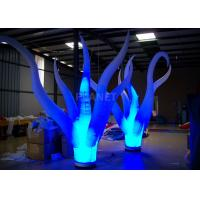 Best Color Changing Inflatable Tree Durable 210 D Oxford Cloth For Event Decoration wholesale
