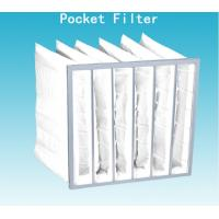 Best Non Dust Room G4 Pocket Air Filter Bag 592mm Width With High Dust Holding wholesale