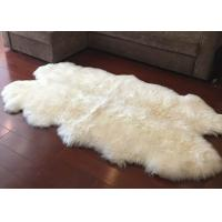 Cheap Real Sheepskin Rug Large Ivory White Australia Wool Area Rug 4 x 6 ft 4 Pelt for sale