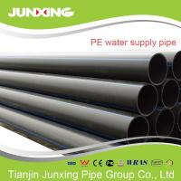 Best PE100 water supply black hdpe pipe for water with blue line 200mm wholesale