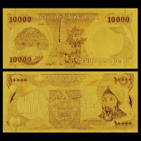 Best Iraq 10000 Dinars 24K Gold Banknote Engaved 99.9 Gold Leaf wholesale