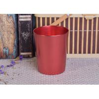 Best Decoration Red Copper V Shaped Cup Metal Candle Jar Tin Candle Containers wholesale